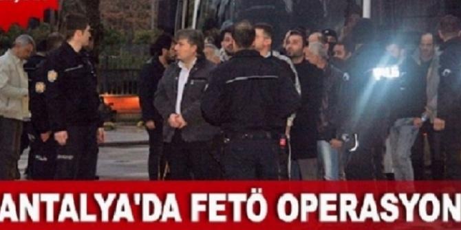 Antalya'da FETÖ/PYD Operasyonu