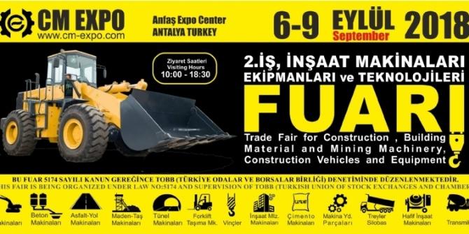 CM EXPO  Yerli İş Makinaları Antalya Fuarının 2.sini Düzenledi