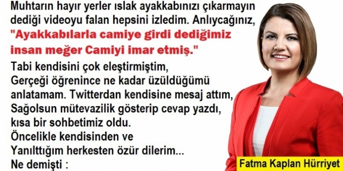 CHP'Lİ BAŞKAN CAMİYE AYAKKABIYLA GİRDİ DEDİLER AMA...